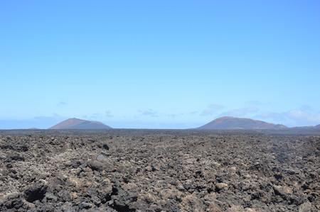 lava landscape of Timanfaya in Lanzarote