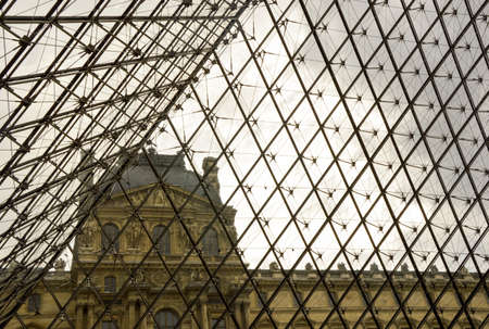 Louvre seen through the glass pyramid