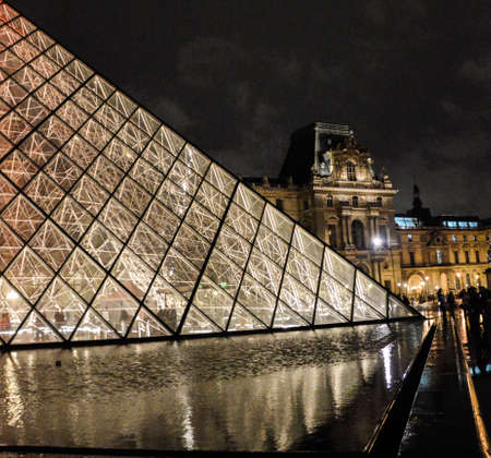 Louvre at night Editorial