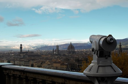 Panorama of Florence from Piazzale Michelangelo.