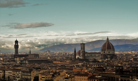 Panorama of the city of Florence in Italy with the great dome