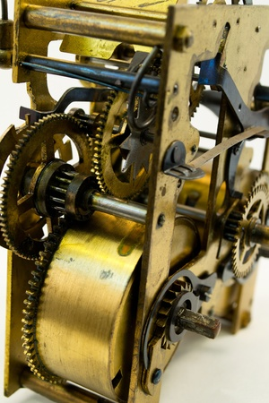 Closeup of vintage clockwork photo