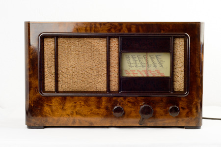 denominado retro: Front of an old-fashioned retro styled radio
