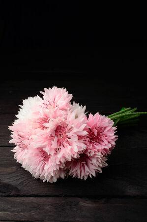 unpretentious: Pink Cornflowers bouquet