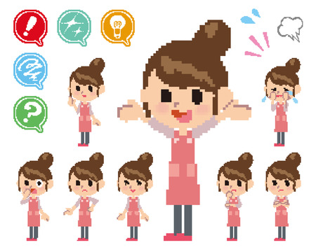 Pose and the various faces of mother_Pixel