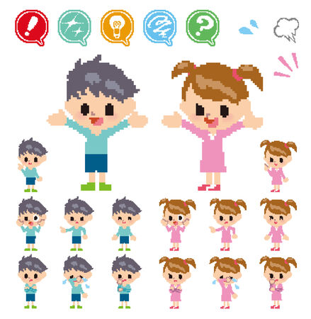 hesitation: Pose and the various faces of children_Pixel