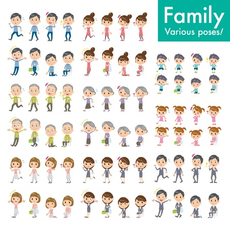 family shopping: Person illustrations set _1 Illustration