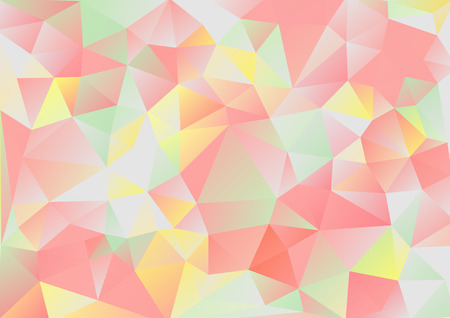 background kaleidoscope: Cubism background Gray and red green yellow