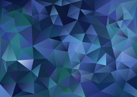 Cubism background Dark blue and green