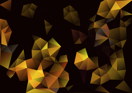 Cubism background Black and gold Illustration