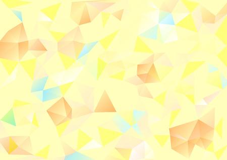 background kaleidoscope: Cubism background Pale yellow and orange blue Illustration