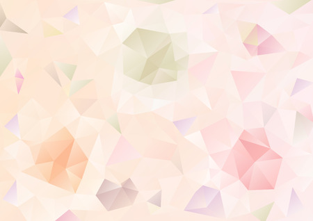 Kubisme achtergrond Lichtroze en drie patroon Stock Illustratie