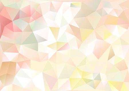forme geometrique: Cubisme fond rose pâle et multicolore