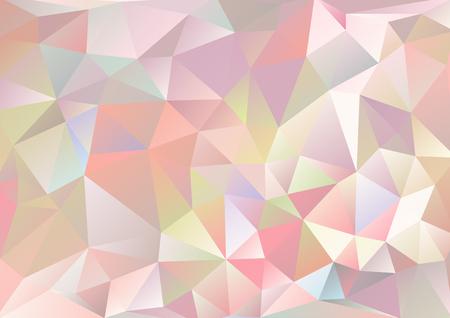입체파 배경 쓴 붉은 색 분홍색 및 여러 가지 빛깔의