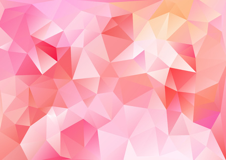 Cubism background Bright red orange  イラスト・ベクター素材