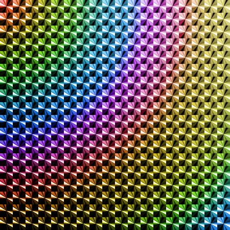 High saturation colored hologram sticker