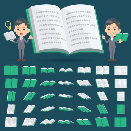 school icon: 3D book