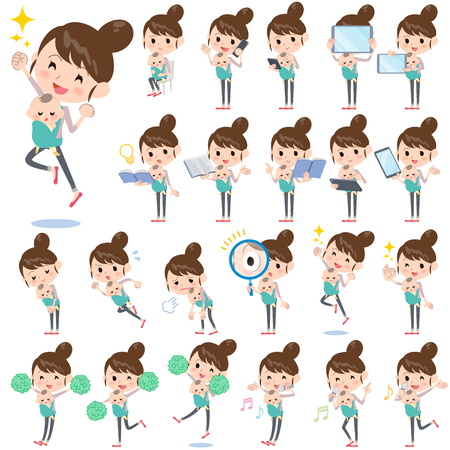Set of various poses of Mother and baby 2