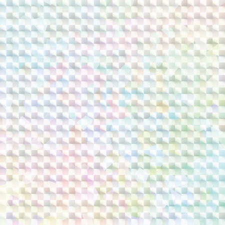 background card: pale rainbow colored hologram sticker