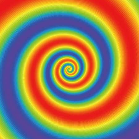 Line radial brainwashing rainbow style background graphic design.