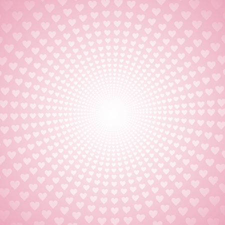 Line radial Straight Heart style background graphic design.