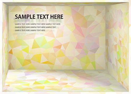 Kubismushintergrund Pale rosa und gelb Tiefe Raum