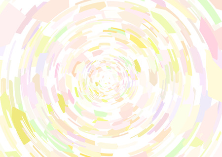 Cubism background Circle radiation Pale pink and yellow