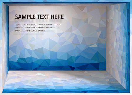 mosaic background: Cubism background Waterside depth space