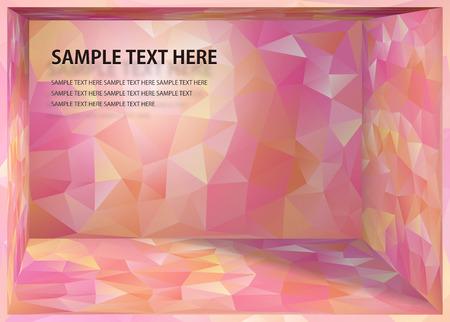 Cubismo Sfondo rosa e ri spazio di profondità Archivio Fotografico - 53981671