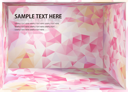 Cubism background White and pink depth space