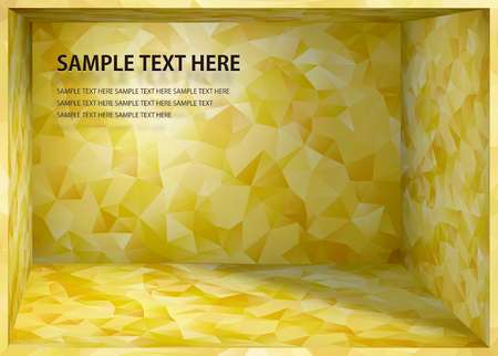 Cubism background Japanese style gold depth space