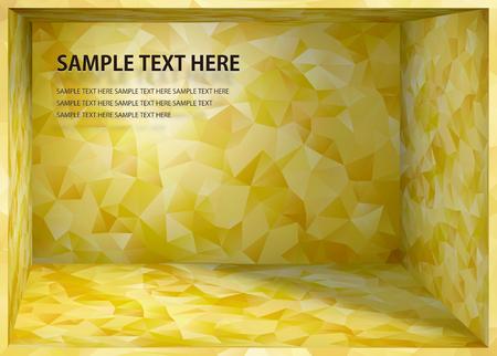 Cubismo sfondo in stile giapponese spazio profondità d'oro