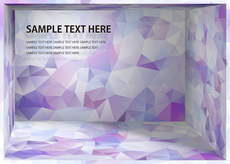 Cubism background White and purplo depth space