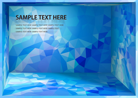 Cubism background Bright blue depth space Illustration