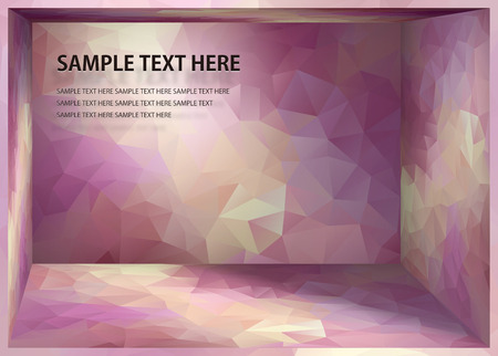 pale yellow: Cubism background Red purple and pale yellow depth space
