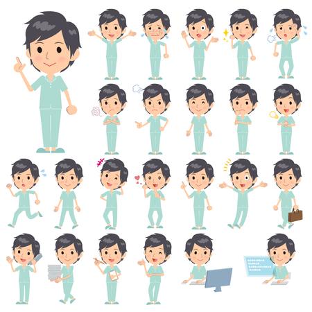 Set van verschillende poses van geduldig man
