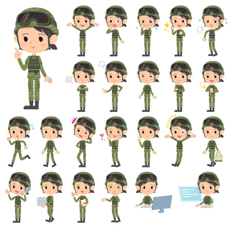 1,458 Soldier Woman Stock Vector Illustration And Royalty Free ...