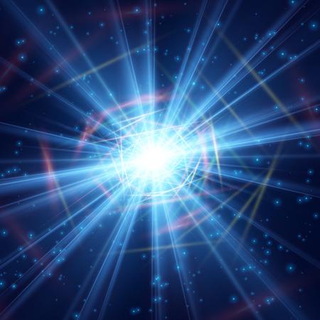 Cosmic radiation polished light