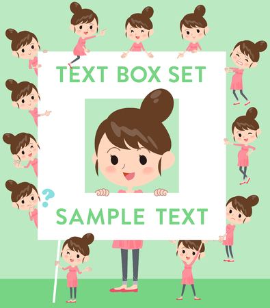 fingering: Set of various poses of Pregnant woman text box