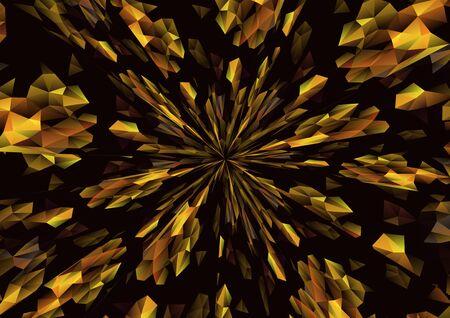 Cubismo radiación de fondo Negro y oro