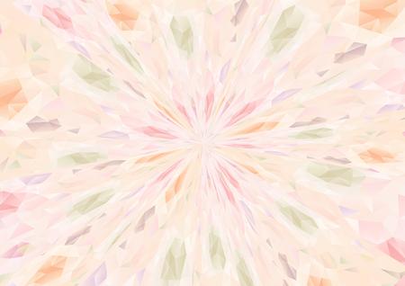 Cubism background radiation three color Illustration