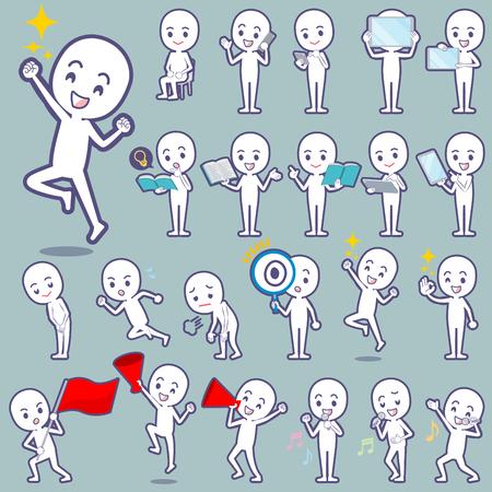 Set of various poses of Stick figure 2 일러스트