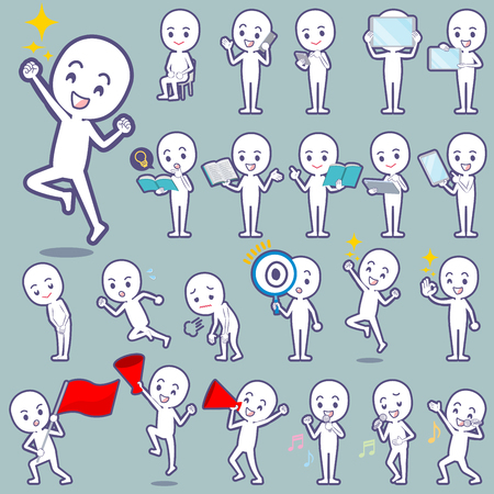 Set of various poses of Stick figure 2 矢量图像