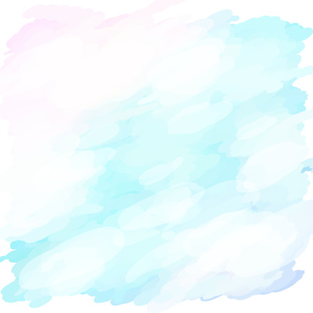 Watercolors blue White pink design template illustration