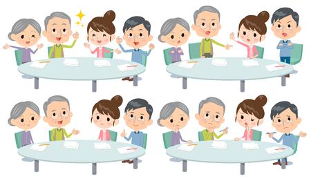 Set of various poses of meeting lecture 2 generation_1 Ilustração