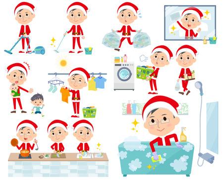 산타 클로스 의상 dad_housekeeping의 다양 한 포즈의 집합