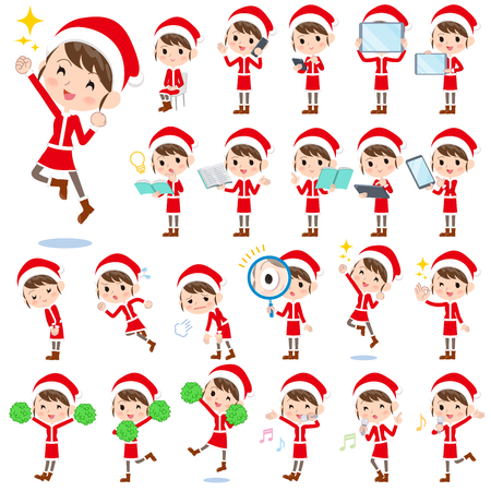tired: Set of various poses of Santa Claus Costume mom_2