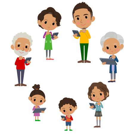 Membres de la famille de 3 générations. Banque d'images - 88482218