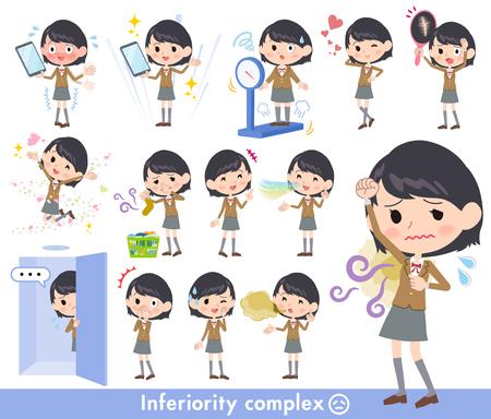 school girl Brown Blazer_complex