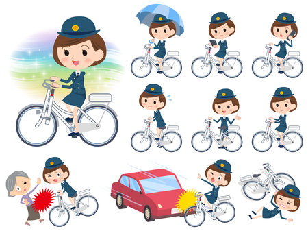 policewomen vector set